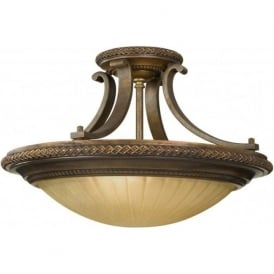 KELHAM HALL traditional semi flush uplighter for low ceilings