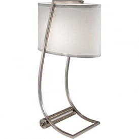 LEX brushed steel desk lamp or book light with USB port