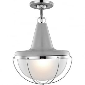 LIVINGSTON modern dual mount ceiling light, fits flush or with chain