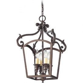LUMINARY traditional oil rubbed bronze hanging lantern