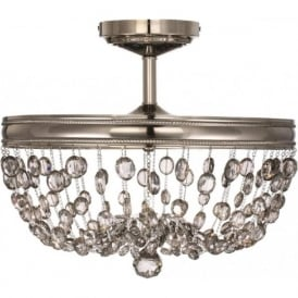 MALIA semi-flush fitting chandelier style light for low ceilings