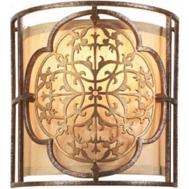 MARCELLA traditional bronze and beige wall panel light