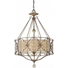 MARCELLA traditional bronze fretwork ceiling light