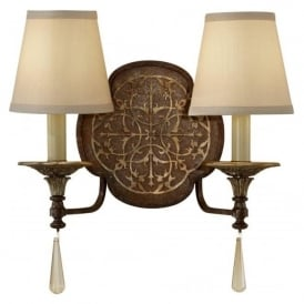 MARCELLA traditional double bronze wall light