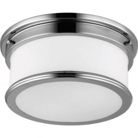 PAYNE flush fitting circular bathroom ceiling light