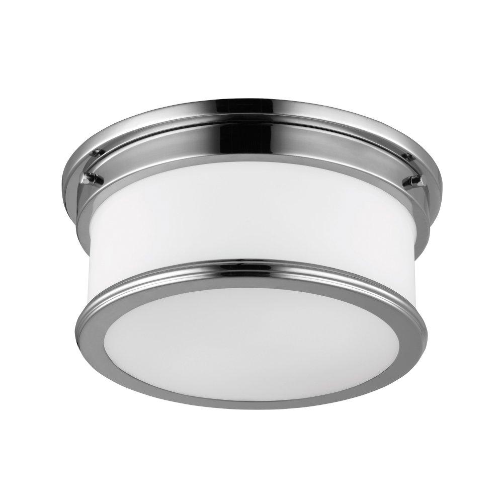Flush Ceiling Lights Bathroom : Deco style flush fitting bathroom ceiling light chrome