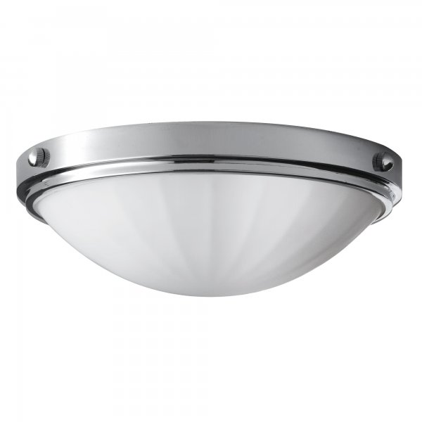 Ip44 round flush mounted bathroom ceiling light chrome for Flush mount bathroom lighting