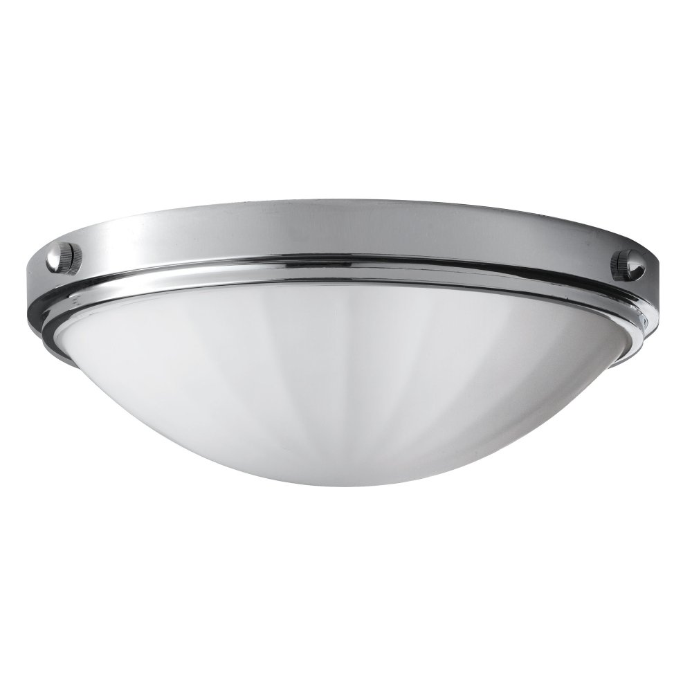 IP44 Round Flush Mounted Bathroom Ceiling Light, Chrome ...