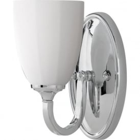 PERRY traditional bathroom wall light, chrome