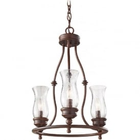 PICKERING LANE bronze farmhouse style chandelier - 3 light