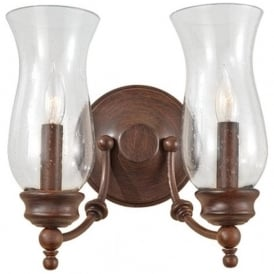 PICKERING LANE bronze farmhouse style twin wall light