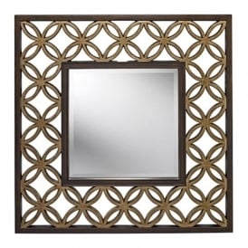 REMY Art Deco glass wall mirror