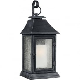 SHEPHERD Parisian style replica gas lantern outdoor wall light - extra large