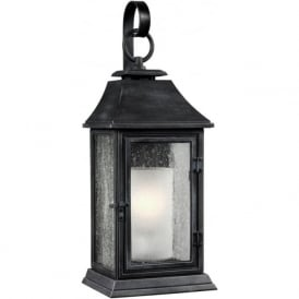 SHEPHERD Parisian style replica gas lantern outdoor wall light - large