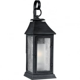 SHEPHERD Parisian style replica gas lantern outdoor wall light - medium