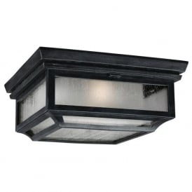 SHEPHERD traditional flush mounted porch ceiling light