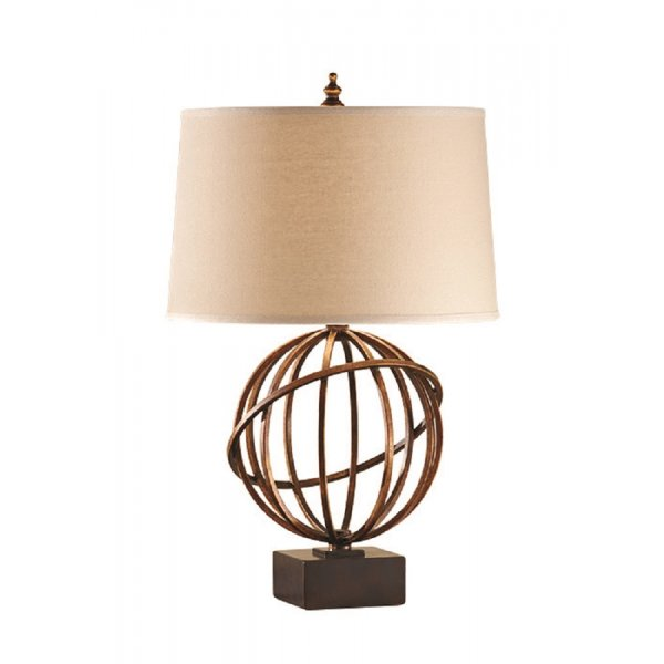 Traditional Open Globe Bronze Table Lamp In Arts And