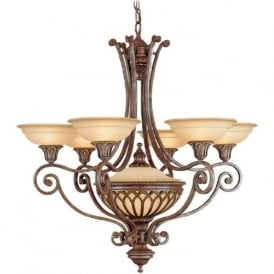 STIRLING CASTLE 6 light Gothic style bronze chandelier