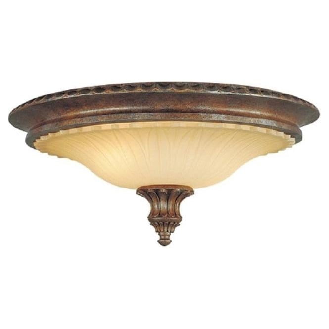 Circular flush low ceiling light in traditional bronze and amber stirling castle traditional bronze flush fitting low ceiling light aloadofball Gallery