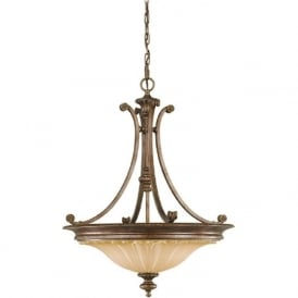 STIRLING CASTLE traditional bronze uplighter ceiling pendant light