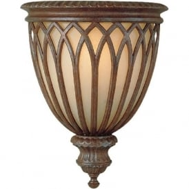 STIRLING CASTLE traditional bronze uplighter wall sconce
