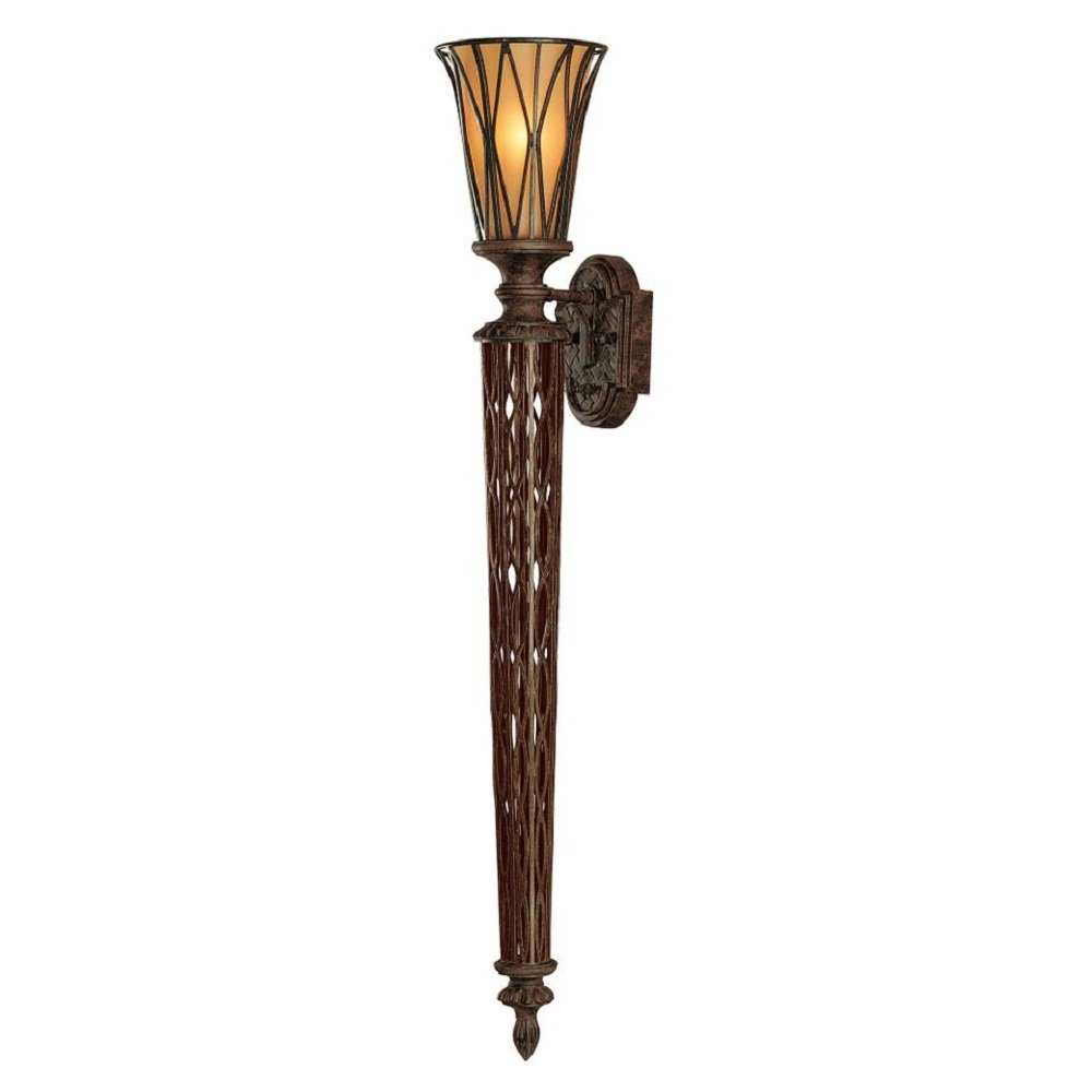 Gothic Wall Sconces: Large Torchiere Style Wall Sconce In Dark Bronze With