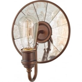 URBAN RENEWAL industrial retro style bronze wall light with reflector plate
