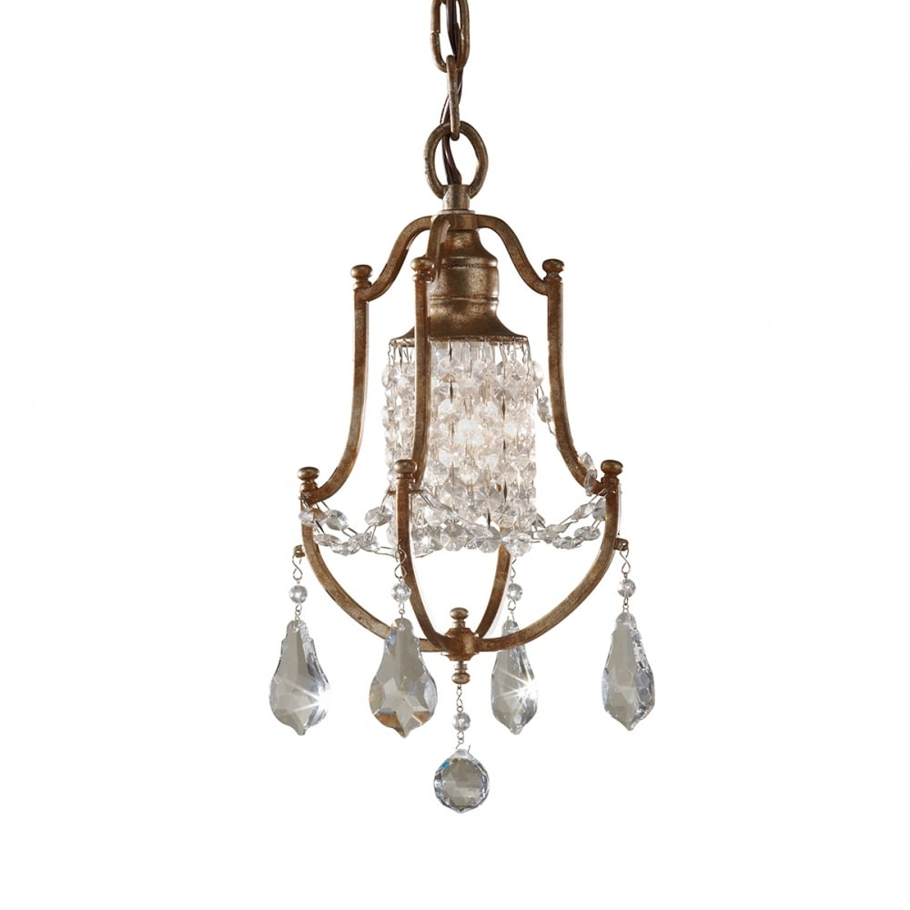 Small mini traditional chandelier with crystal droplets on bronze valentina traditional mini chandelier dressed with crystal mozeypictures Image collections