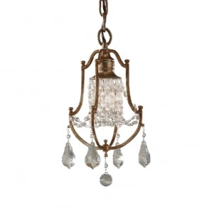 Manhattan American Collection VALENTINA traditional mini chandelier dressed with crystal
