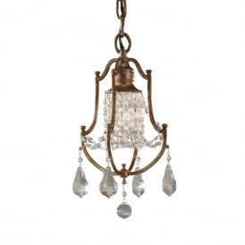VALENTINA traditional mini chandelier dressed with crystal