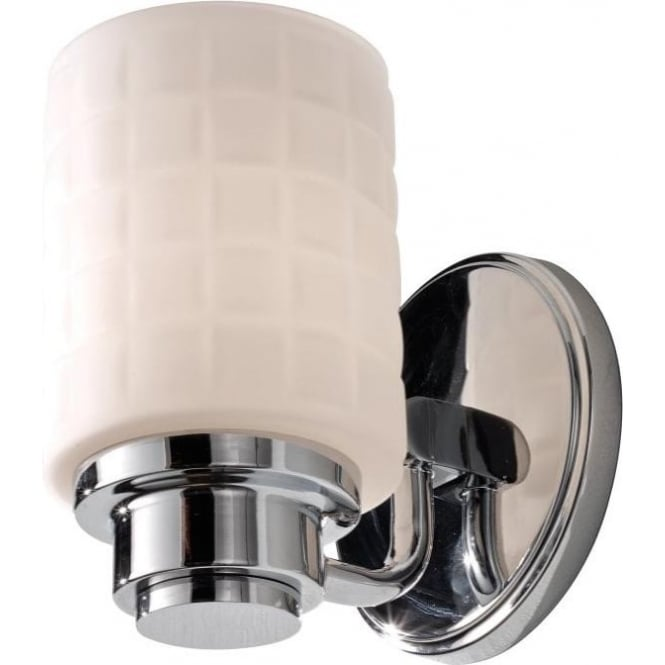 Bathroom Lights Art Deco: Bathroom Wall Light In Chrome With Mosaic Pattern Opal