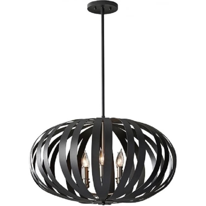 Large modern ceiling pendant light in textured black cage design woodstock contemporary black ceiling pendant light large mozeypictures Image collections