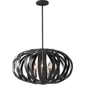 WOODSTOCK contemporary black ceiling pendant light - large