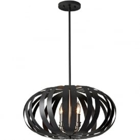 WOODSTOCK contemporary black ceiling pendant light - medium