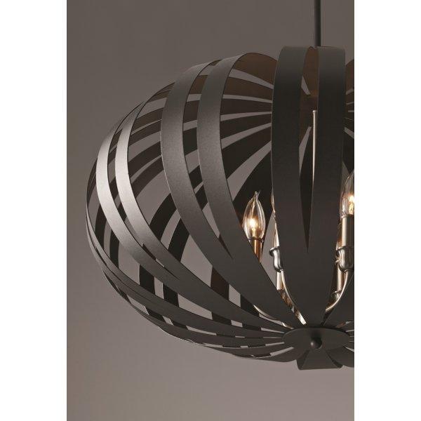 Modern black oval metal cage pendant light on adjustable for American classic lighting