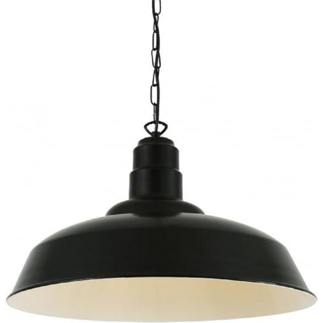 Industrial Ceiling Pendant Light In Black Powder Coated