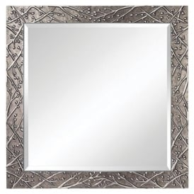 XERA large square mirrror with decorative silver frame