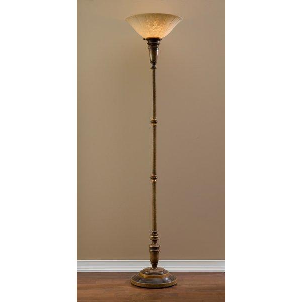 Traditional standard uplighter floor lamp with scavo glass for Uplighter single floor lamp