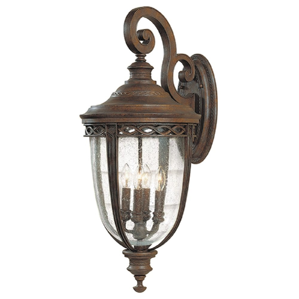 Traditional Bronze Wall Lights : Very Large Bronze Outdoor Wall Lantern in Traditional Style, IP44 Rated