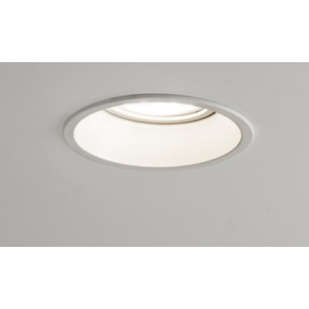 Minima fire rated matt white circular recessed downlight or spotlight