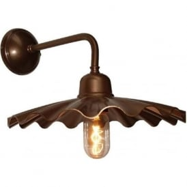 ARDLE fluted bronze metal wall light