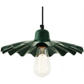ARDLE fluted racing green metal ceiling pendant light