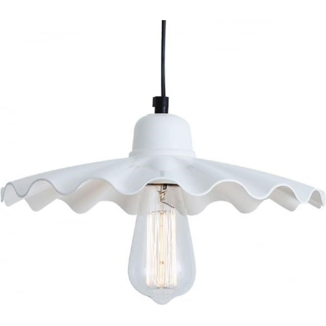 White Fluted Glass Ceiling Pendant Light For Over Table