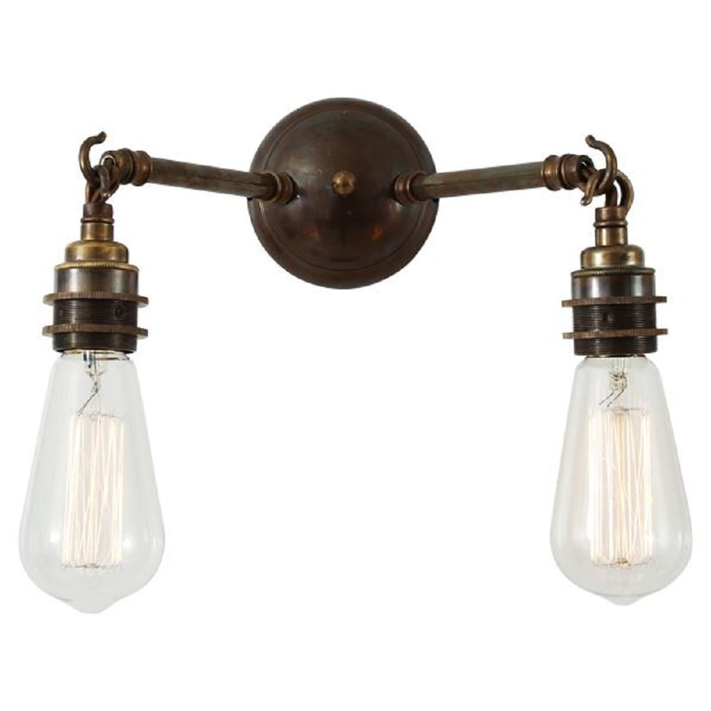 Home shop by era edwardian lighting monaghan lighting monaghan - Arrigo Double Bare Bulb Wall Light On Antique Brass Fitting
