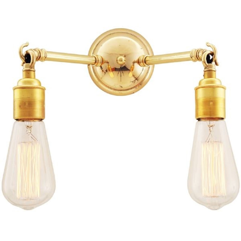 bare bulb lighting. ARRIGO Double Bare Bulb Wall Light On Gold Polished Brass Fitting Lighting