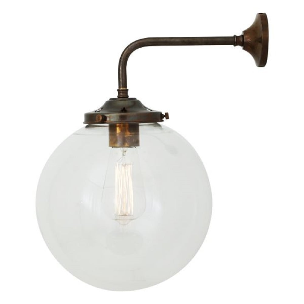 Home shop by era edwardian lighting monaghan lighting monaghan - Bamako Clear Glass Globe Wall Light On Antique Brass Fitting