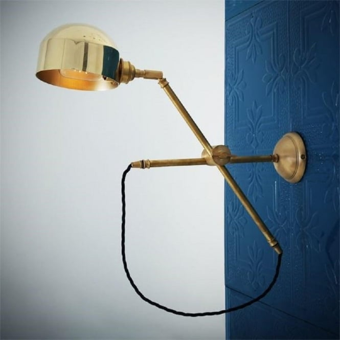 promo code 21f89 42601 BOGOTA quirky modern swing arm wall light in satin brass