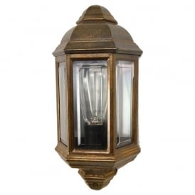 BRENT traditional flush fitting garden wall light in cast brass