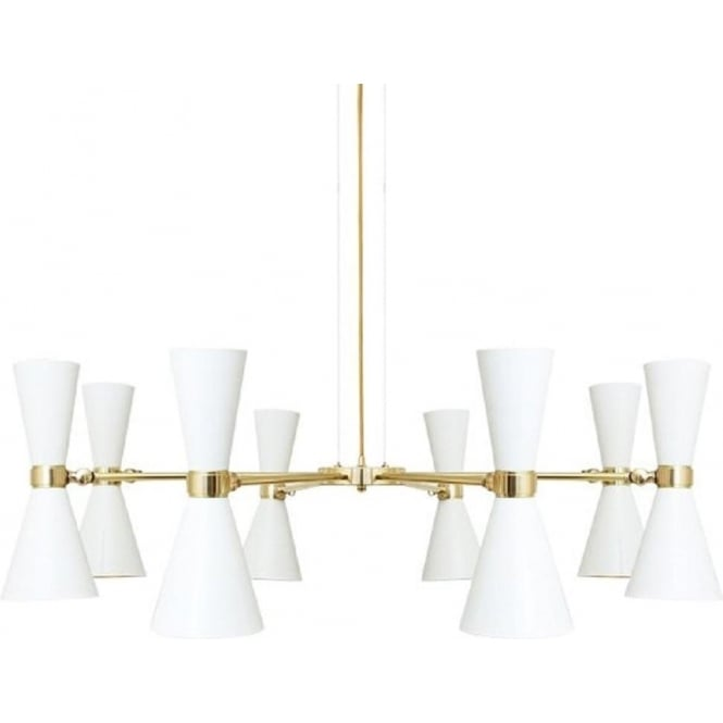 8 light modern feature ceiling pendant in white with gold detailing cairo contemporary white and gold led 8 arm hanging ceiling light mozeypictures Images