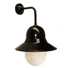 CENA black aluminium wall light with acrylic diffuser, IP44